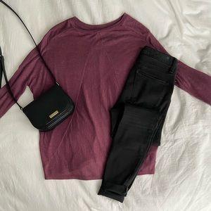 Old Navy purple maroon long sleeve shirt
